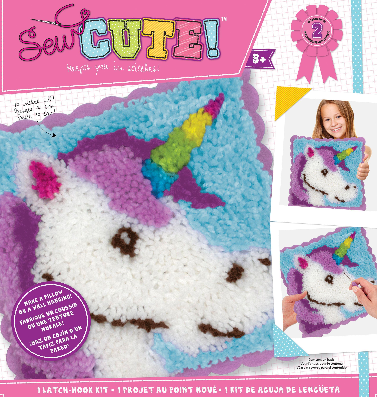 Sew Cute! Latch Hook Kit-Unicorn