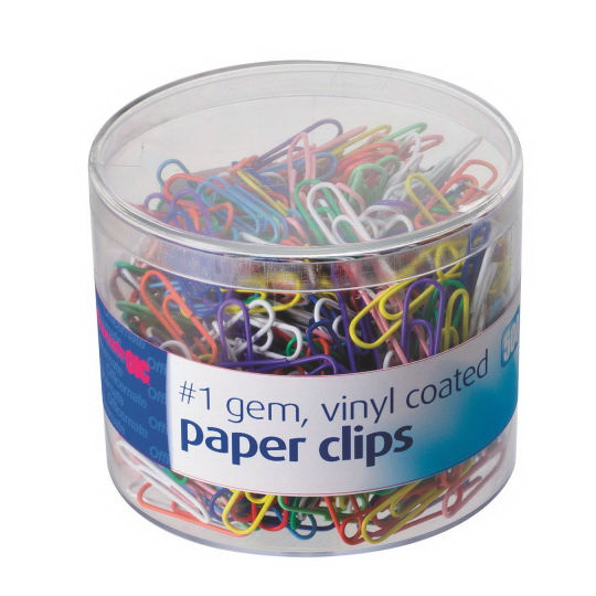 Colored Vinyl Coated Paper Clips