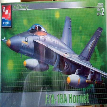 (#31786 AMT F/a-18a Hornet 1/48 Scale Plastic Model Kit ,Needs Assembly)