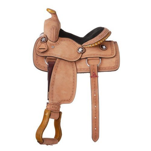King Series Cowboy Roughout Saddle with Barbwire Tooling