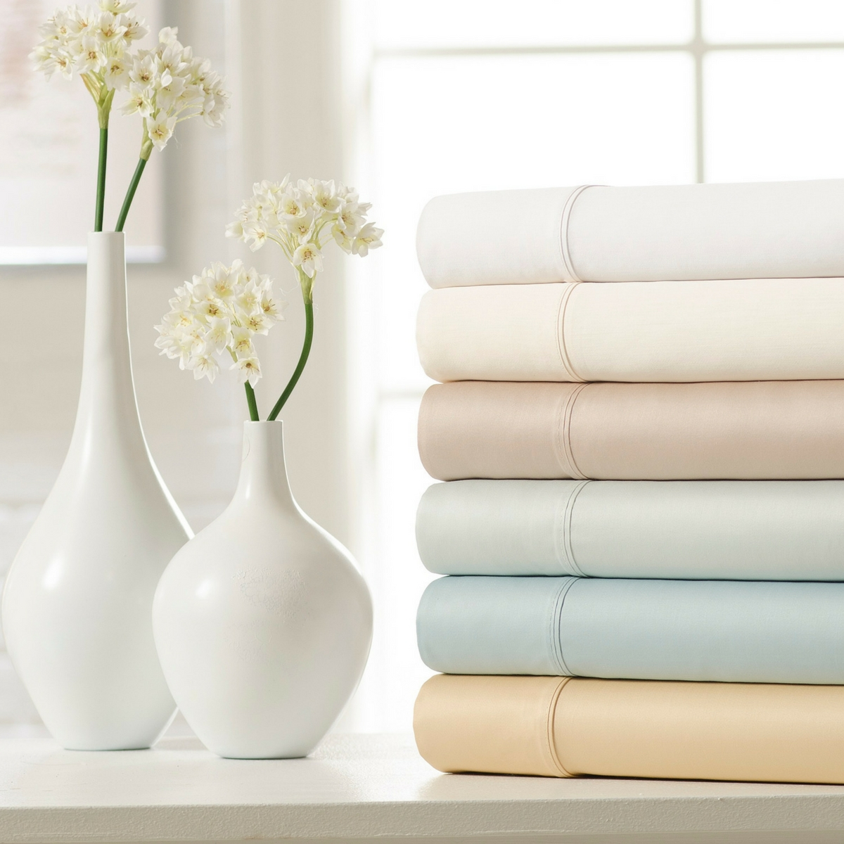 600-Thread Count 100% Cotton 6-Piece Sheet Set