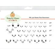 Peachy Keen Stamps Clear Face Assortment 32/Pkg-Kawaii