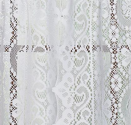 - Hopewell Lace white rod pocket panel 63