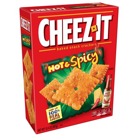 Cheez-It Baked Hot & Spicy Snack Crackers, 12.4 Oz. - No Bake Halloween Snacks