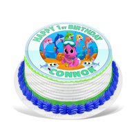Baby Shark Edible Cake Image Topper Personalized Picture 8 Inches Round