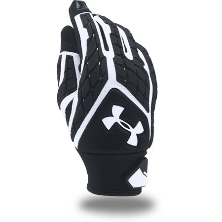 dc52a28fce Under Armour - Under Armour Youth UA Combat V Full Finger Lineman Gloves  1271193-100 White/Black/White - Walmart.com