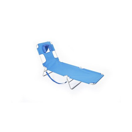 Ostrich Lounge Chaise blue (Ostrich 3n1 Deluxe Face Down Beach Lounger)