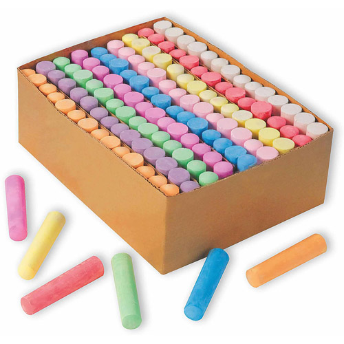 Color Splash! Giant Box of Sidewalk Chalk, Box of 126