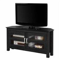"Kingfisher Lane 44"" Corner Wood TV Stand in Black"