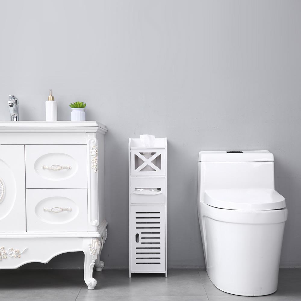 Ktaxon Small Bathroom Storage Corner Floor Cabinet with ...