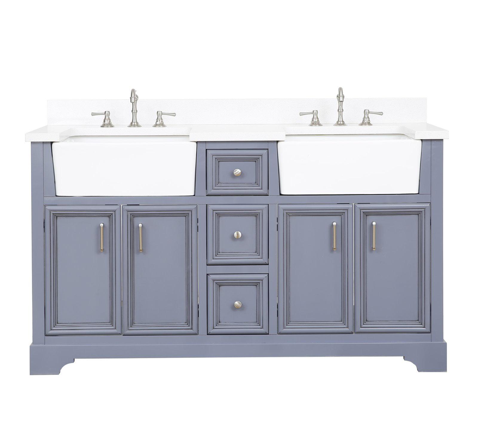 Zelda 60 Double Bathroom Vanity Walmart Com Walmart Com