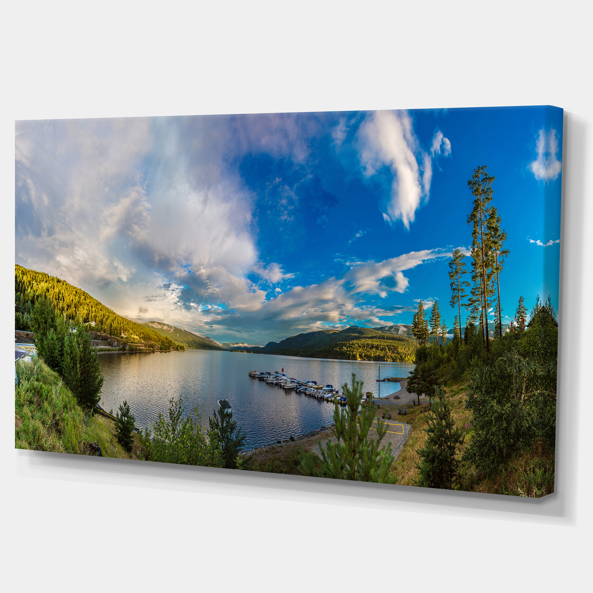 Sognefjord in Norway Panorama - Landscape Canvas Art Print - image 2 de 4