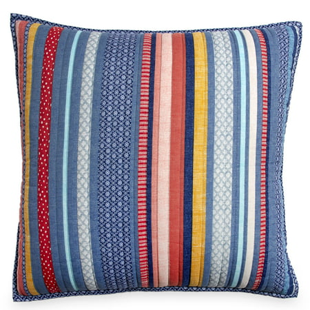 The Pioneer Woman Barn Dance Euro Sham Set, (Ikat Euro Sham)