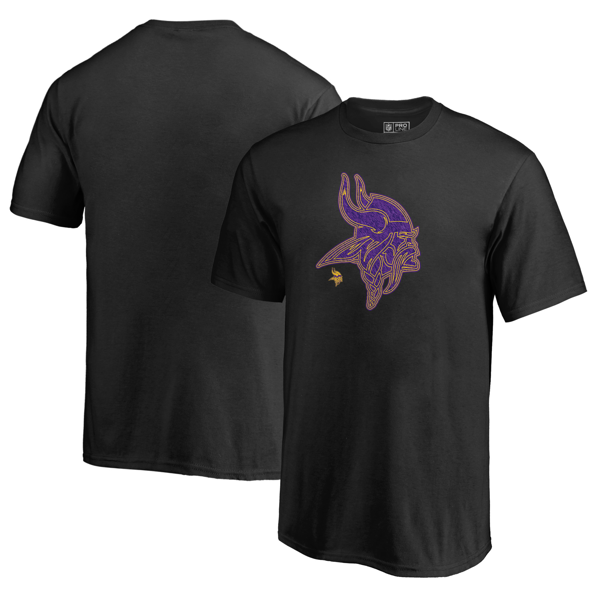 Minnesota Vikings NFL Pro Line by Fanatics Branded Youth Training Camp Hookup T-Shirt - Black
