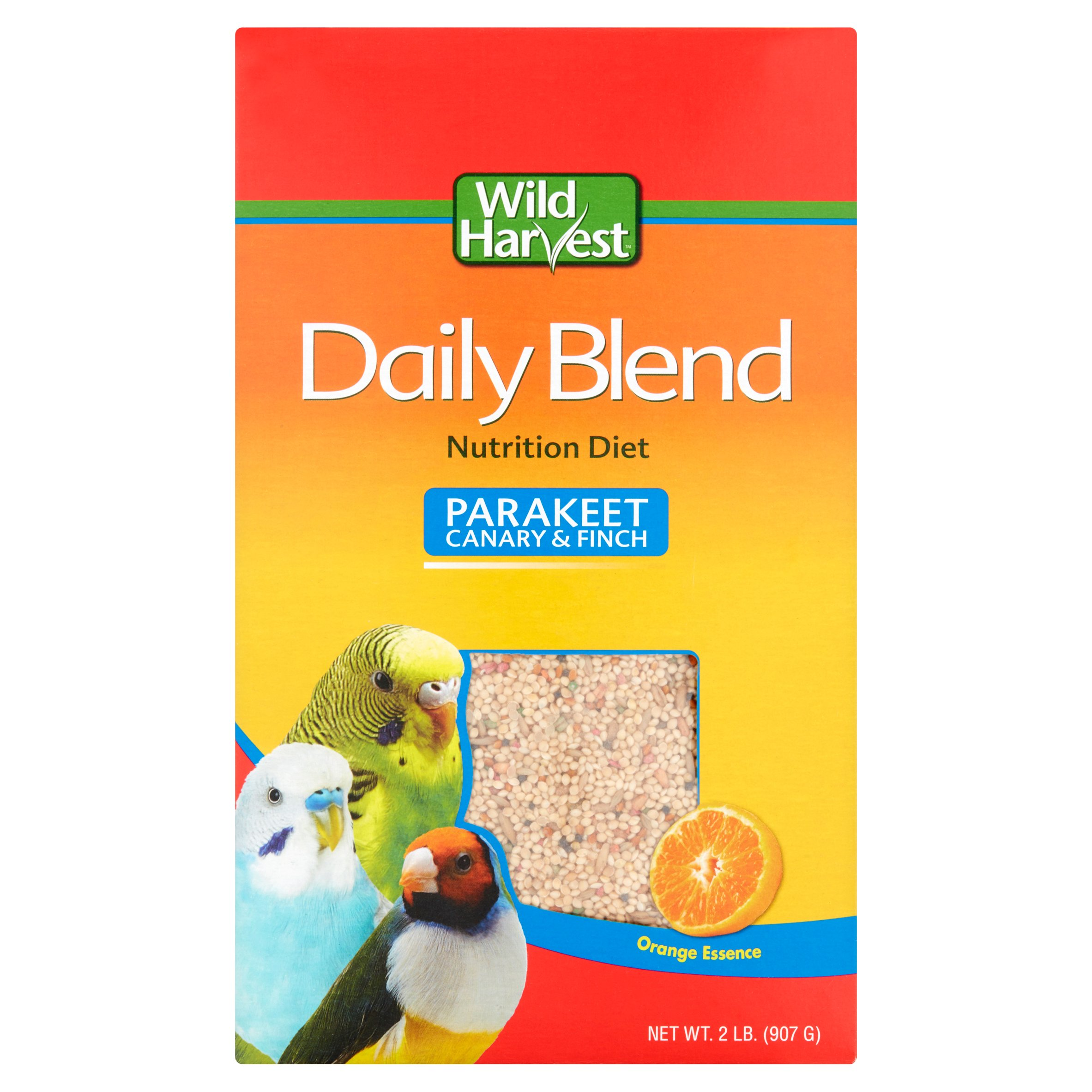 (3 Pack) Wild Harvest Daily Blend for Parakeet, Canary & Finch, 2 lb
