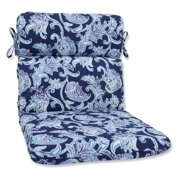Pillow Perfect Outdoor/ Indoor Lahaye Indigo Rounded Corners Chair Cushion