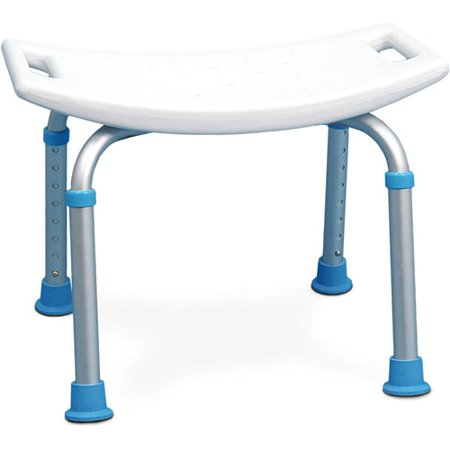 AquaSense Adjustable Bath and Shower Chair with Non-Slip Seat, White ...