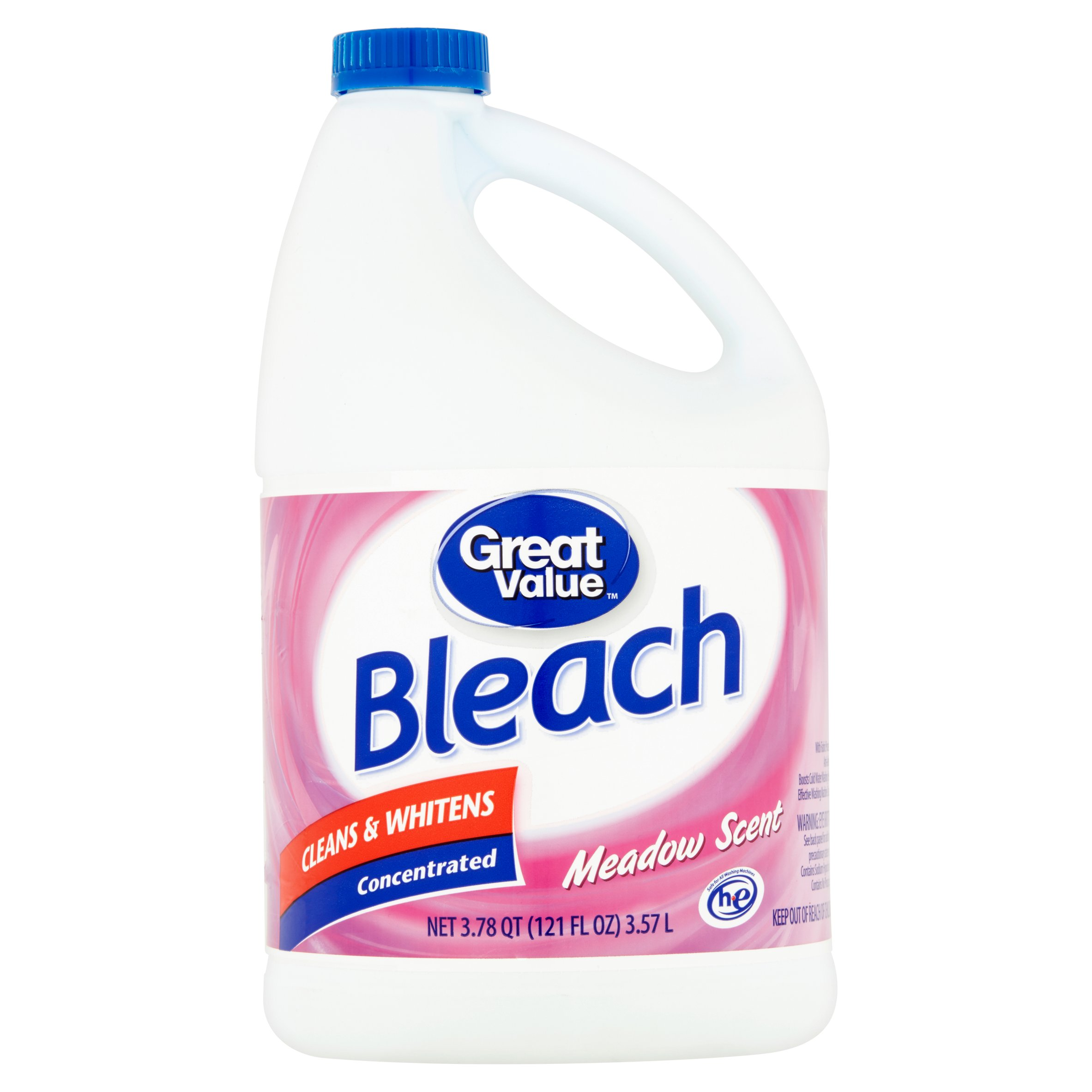 Great Value Bleach, Meadow Scent, 121 oz