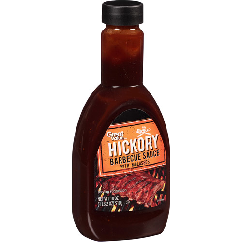 Great Value Hickory Barbecue Sauce, 18 oz