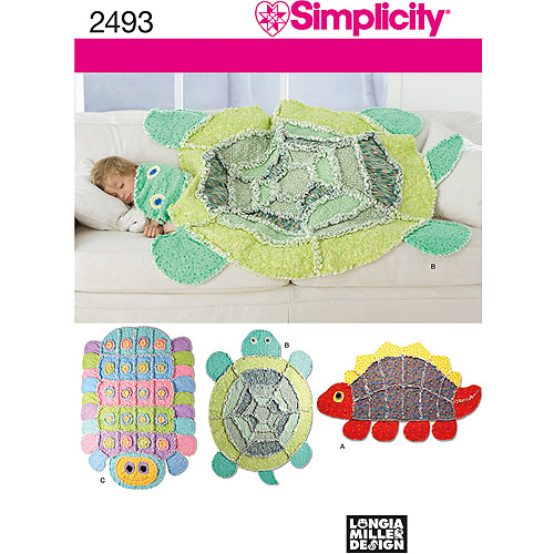 Simplicity Pattern Rag Quilt, One Size