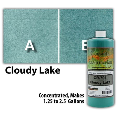 Concrete Resurrection Eco and Environmentally Friendly Concrete Stain Cloudy Lake