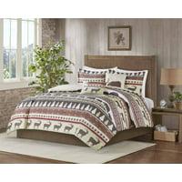 MarCielo 5 Piece Luxury Rustic Lodge King Comforter Set Christmas Comforter Set Montana (King)
