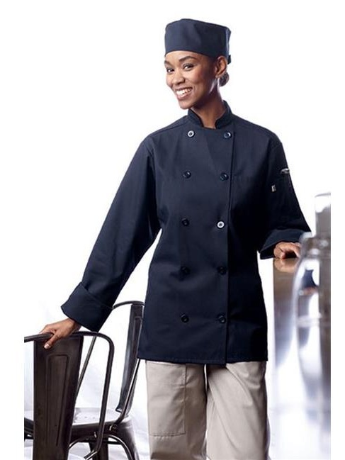 0488-1602 Orleans Chef Coat in Navy - Small