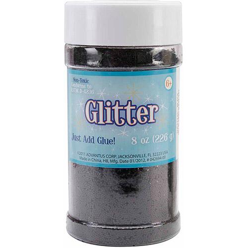 Metallic Glitter 8 Ounces-Black