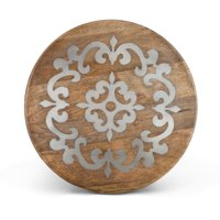 Gerson 18-Inch Diameter Metal-Inlaid Wood Heritage Lazy Susan