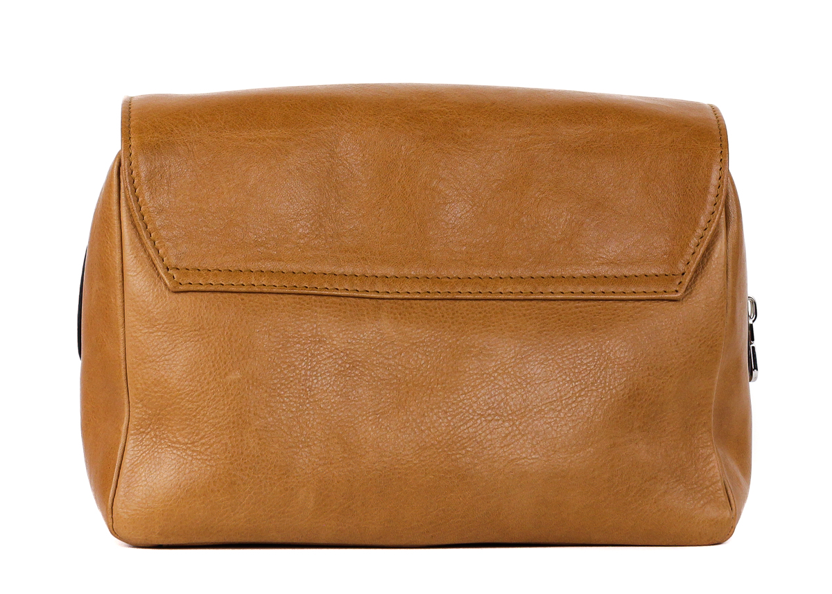 03545bd1bbd1 Brunello Cucinelli Men s Light Brown Leather Wash Bag - Walmart.com