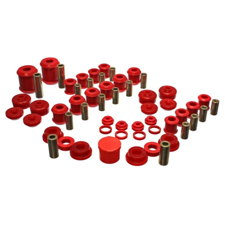 Energy Suspension 95-99 Mitsubishi Eclipse FWD/AWD Red Hyper-flex Master Bushing Set