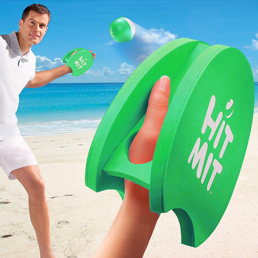 Hit Mit Hand Paddle Game (Green) by Sport Squad