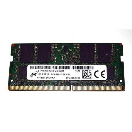16GB (1x16GB) Micron MTA16ATF2G64HZ-2G3B1 DDR4 2400 260-Pin Sodimm Laptop (Micron Laptop Memory)