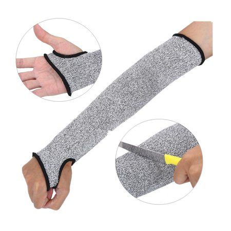 WALFRONT Anti-Cut Sleeve,Cut Resistant Glove, Slash Resistant Safety Protective Arm Sleeves, Cut Resistant Protective Arm Sleeve Wrist Guard Glove with Thumb Hole for Clambing Hunting thumbnail