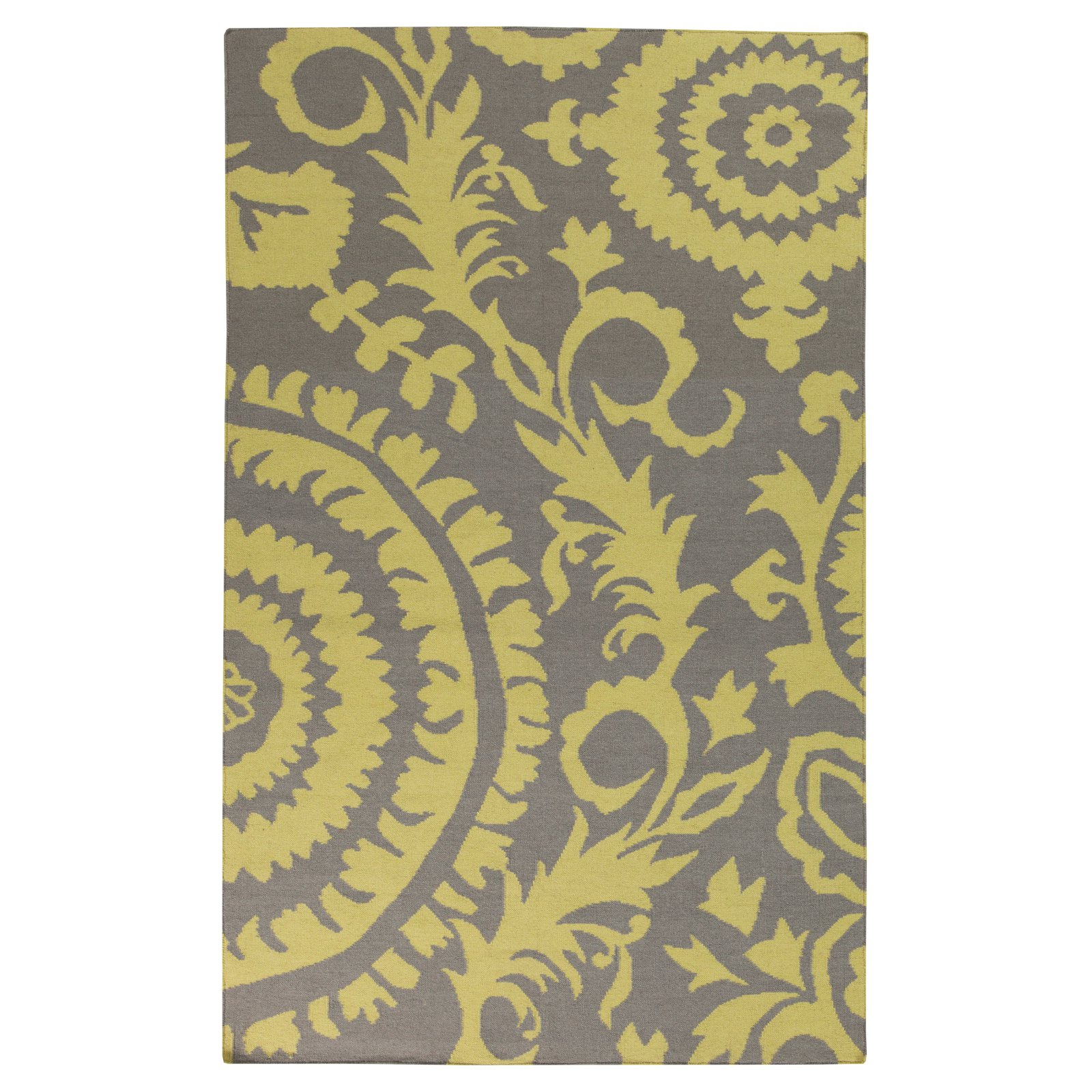 Surya Frontier Two Color Vine and Circle Area Rug