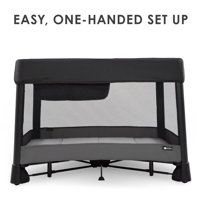 4moms breeze plus Portable Playard with Removable Bassinet and Baby Changing Station | Easy One-Handed Setup | from The Makers of The mamaRoo