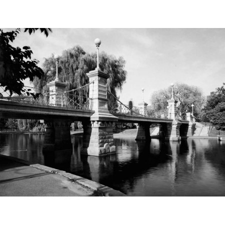 - Boston Public Garden Suspension Bridge Print Wall Art
