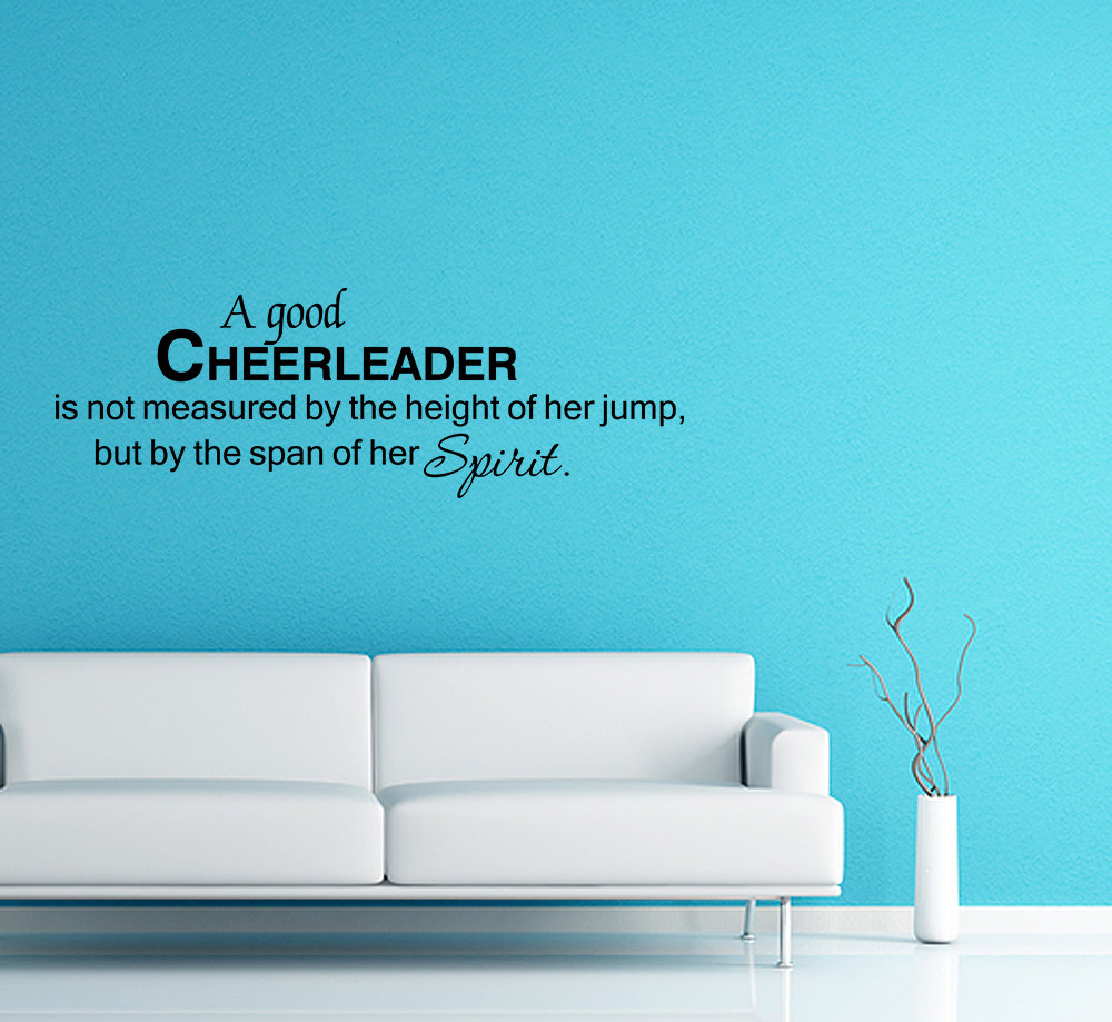 A Good Cheerleader Wall Decal Quote Wall Sticker Home Decor V317