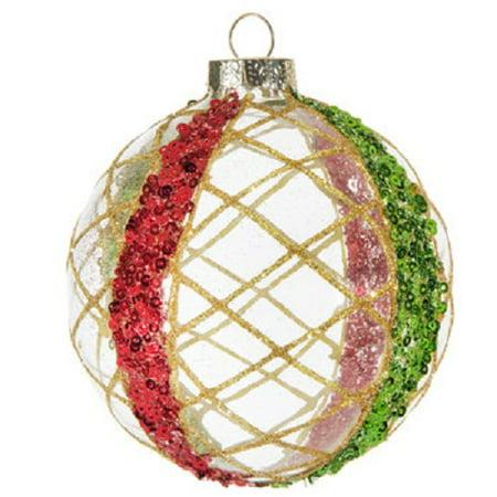 Gold Spun Ball Ornament Christmas Tree Mantel Home Decoration