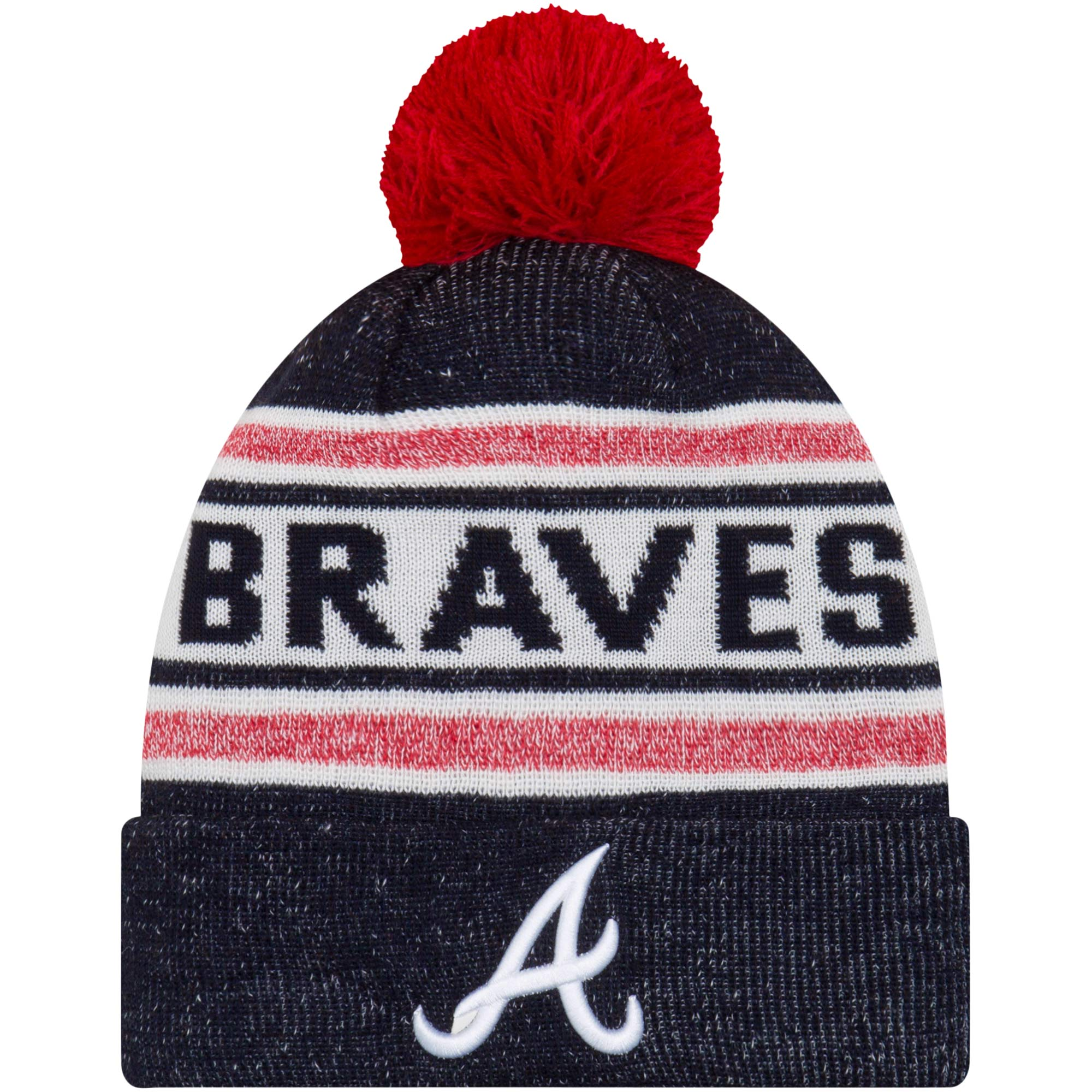 Atlanta Braves New Era Preschool Toasty Cover Cuffed Knit Hat - Navy - OSFA