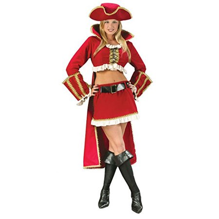 Sexy Captain Blackheart Pirate Lady Women's (Women's Sexy Captain's Wench Costumes)