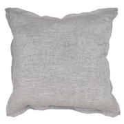 Arabella Linen Charcoal 22-inch Throw Pillow