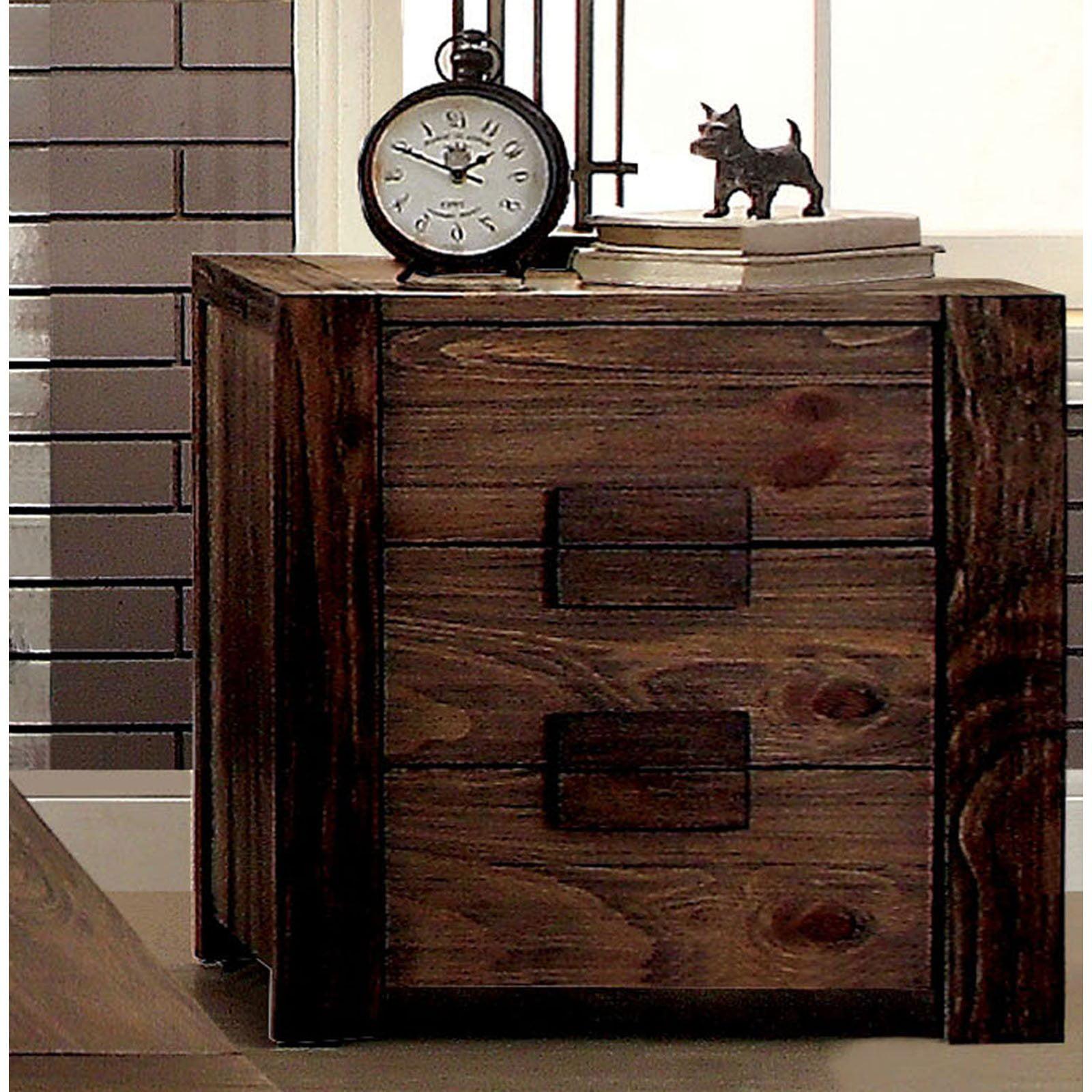 Furniture of America Oberon 3 Drawer Nightstand