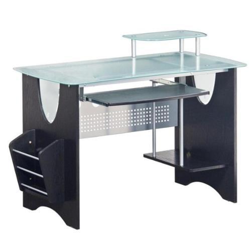 Techni Mobili Computer Desk with Magazine Rack