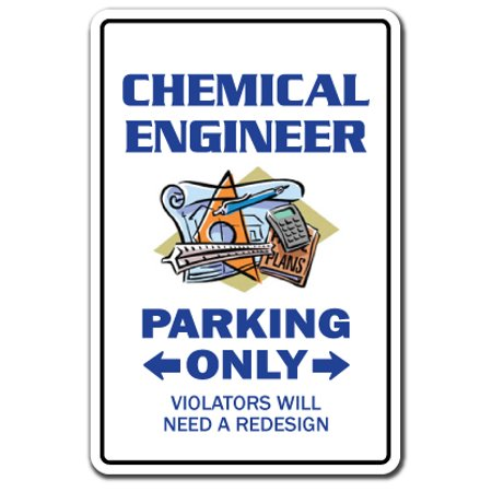 Engineering Decal (CHEMICAL ENGINEER Parking Decal Decals engineering tool chemistry lab | Indoor/Outdoor | 7