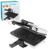 "Non-Stick Pizzelle Maker 220-05NS - Makes Two 5"" Cookies at Once, Spreader Quiche Once Doughnut Recipe 5Heart Black Pro Quiches Exterior Minutes NonStick Cookies.., By CucinaPro"