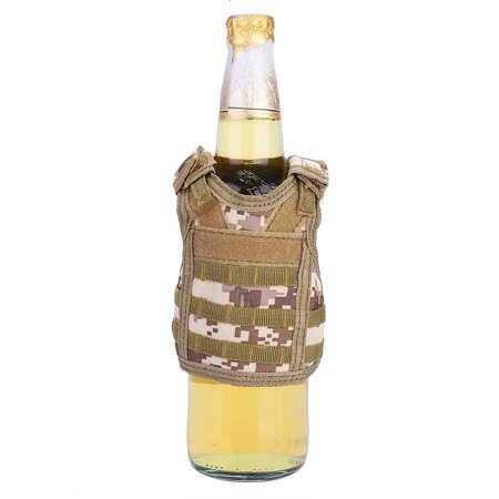 Beer Bottle Cover,HURRISE Mini Tactic Military Molle Vest for Sofa Beer Bottle Can Beverage Decoration Cover (Beer Covers)
