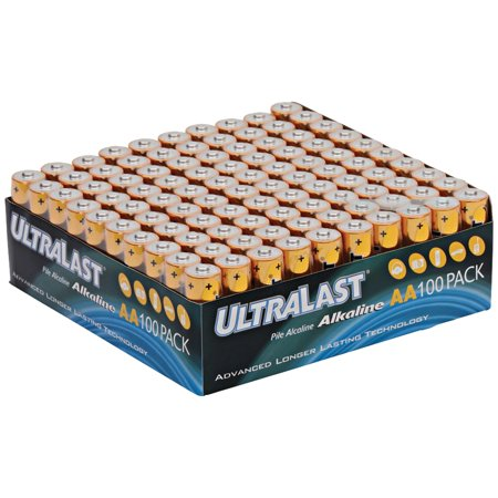 Ultralast ULA100AAB ULA100AAB Alkaline AA Batteries, 100 pk Looking for AA Alkaline batteries? This 100 pack of ULA100AAB Alkaline AA Batteries from Ultralast is just what you need. Use these AA batteries if you need advanced, longer-lasting battery technology.