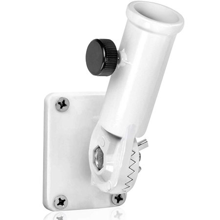 Multi-Position Flag Pole Mounting Bracket with Hardwares - Made of Aluminum - Strong and Rust Free - 1