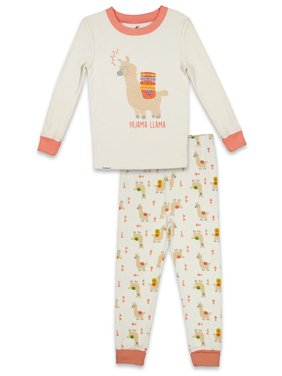 FREE 2 DREAM Pajama Set, 2 Piece Cotton PJ Set, Long Sleeve Long Pant, Natural Cotton, Kid's Sizes 3T to 10